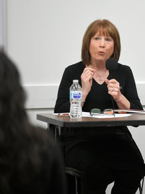 Franklin Alderman Bev Burger was a panelist at The Tennessean sales tax forum at Williamson County Public Library in Franklin on Wednesday, Jan. 24, 2018.