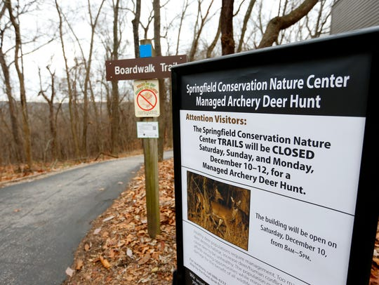 The trails at the Springfield Conservation Nature Center
