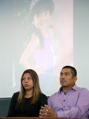 Vanessa's parents attend a Phoenix press conference on Tuesday, Aug. 23, 2016.