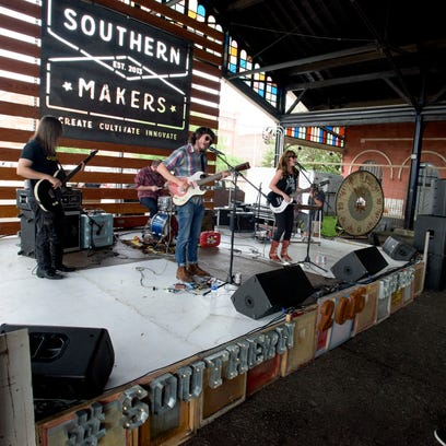 The band Dead Fingers performs at the Southern Makers