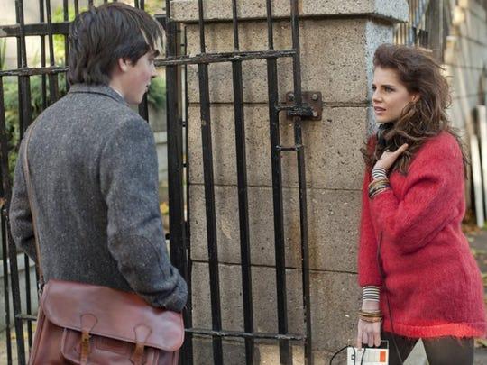 "Ferdia Walsh-Peelo and Lucy Boynton in ""Sing Street."""