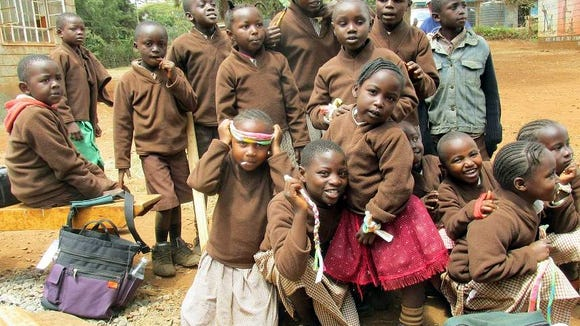 Some of the children of the Thogoto School in Kenya