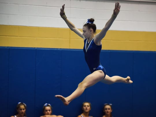 Hallie Wikfors of Pascack Regional performs in the