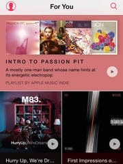 Apple Music's For You tab