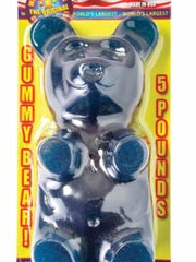 A five pound gummy bear is sure to make the child in