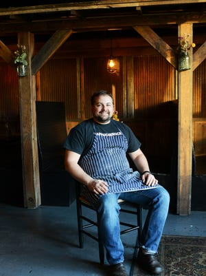 Seven Sows Bourbon and Larder's chef Mike Moore.