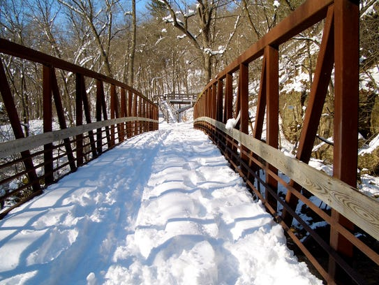 Several of the trails at Willow River State Park are