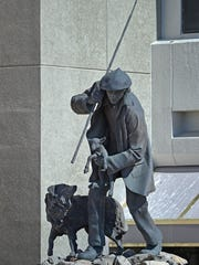 This Basque statue at Nugget Avenue and Victoria Plaza ,Tuesday Feb. 27, 2018. The statue will be donated to UNR.