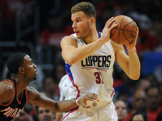 USP NBA: PLAYOFFS-PORTLAND TRAIL BLAZERS AT LOS AN S BKN USA CA
