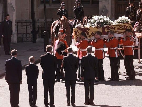 Prince Charles, Prince Harry, Earl Charles Spencer,
