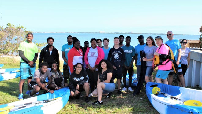 Eleven Boys & Girls Clubs of St. Lucie County members visited St. Andrew's Episcopal Academy in Fort Pierce to learn how to kayak with faculty and students from the school.