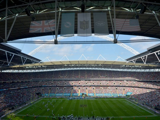 Inside Wembley Stadium for the Jets-Dolphins game on Oct. 4.