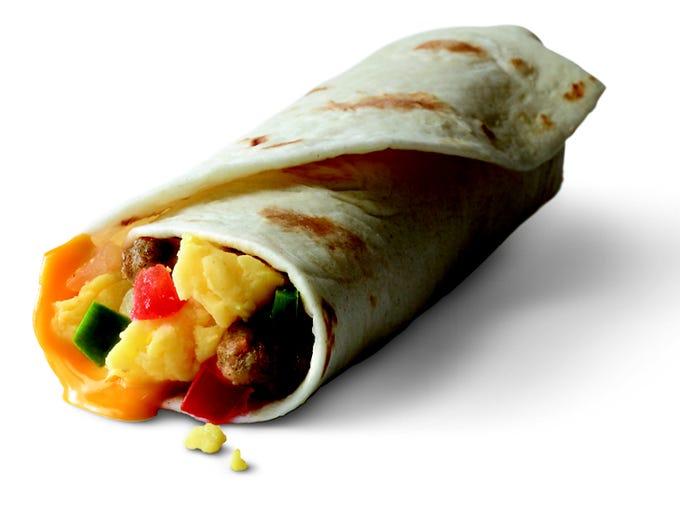 Breakfast burrito for $1