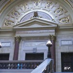 The Wisconsin Supreme Court chambers in the state Capitol.