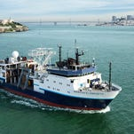 The   Marcus G. Langseth will conduct a   seismic survey of the sea floor off New Jersey this summer.