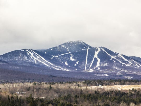 Snow covers the ski trails at Jay Peak.