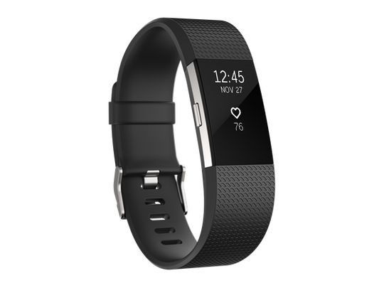 Black Fitbit device.