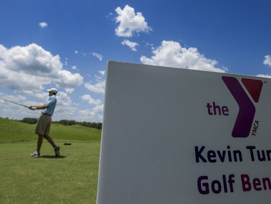 Chase Chambliss tees off at the Annual Kevin Turner