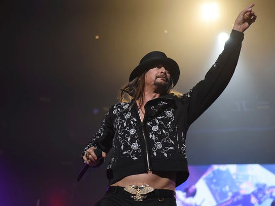 Kid Rock performs at Little Caesars Arena in Detroit