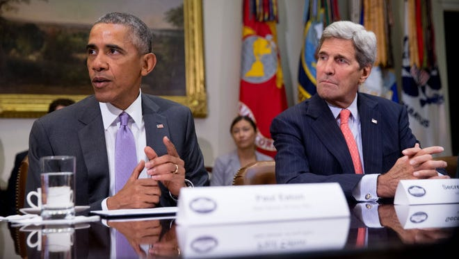 President Obama and John Kerry in Washington in 2015.