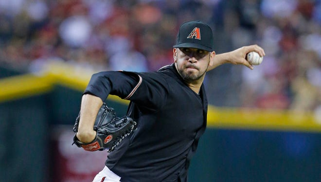 Arizona Diamondbacks relief pitcher Oliver Perez has missed time recently with a 'dead arm.'