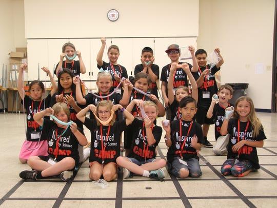 Third-grade students (silver team) made glarch Monday