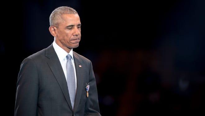 President Obama in Fort Meyer, Va., on Jan. 4, 2017.