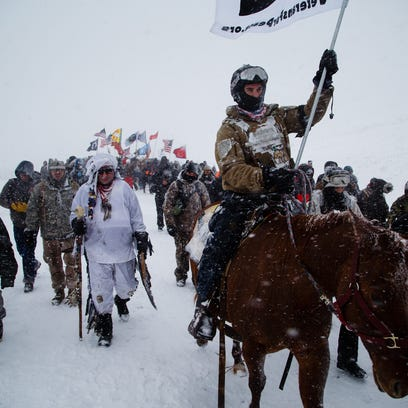 'We are not going anywhere,' pipeline protesters insist