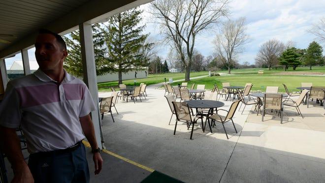 Part-owner Matt Jennings at Village Grill & Patio, a new restaurant at the Oak Harbor Golf Club in Oak Harbor.