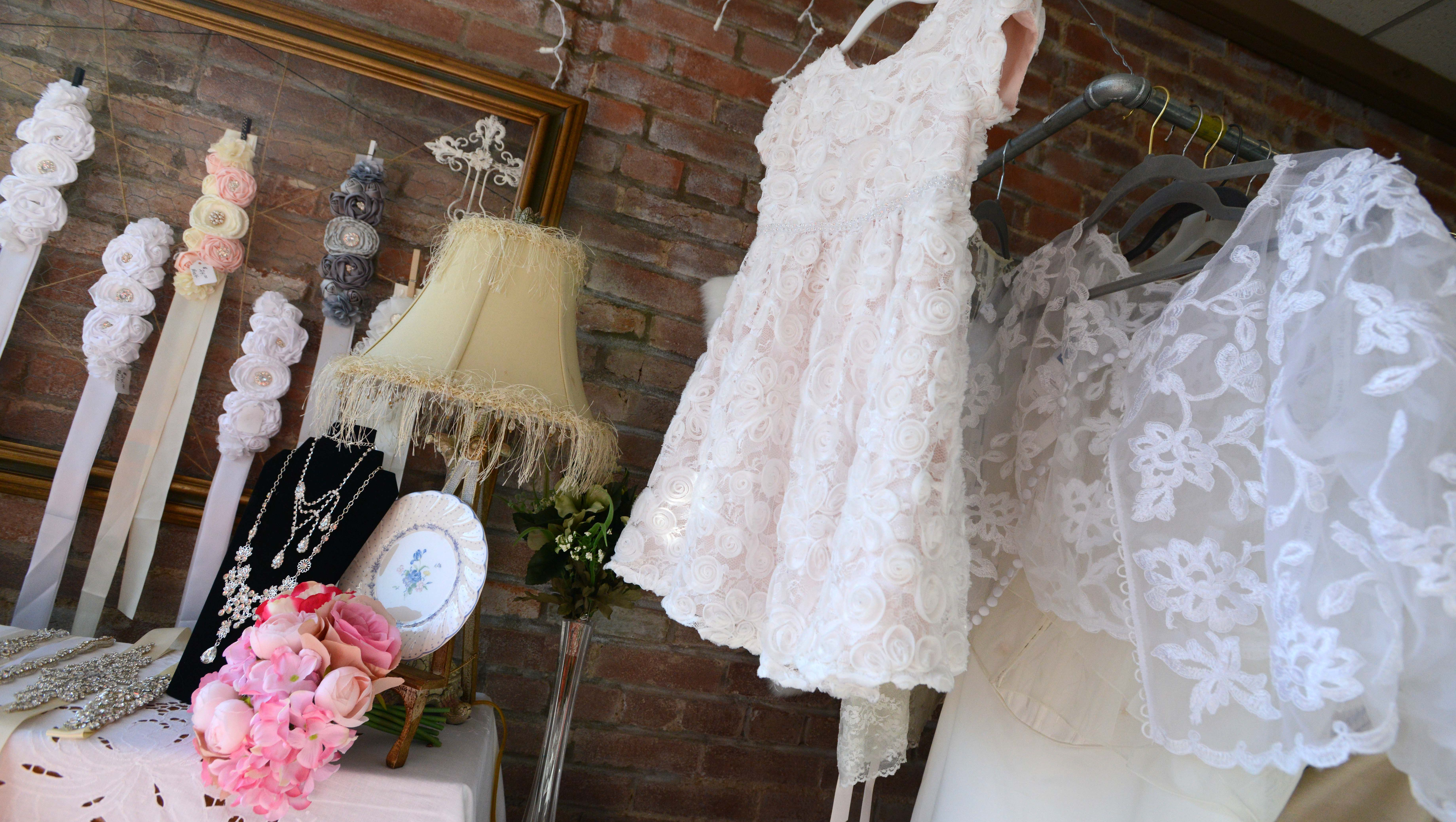Wedding Dress Resale Shop Stays Busy In Downtown Lancaster,Casual White Beach Wedding Dress