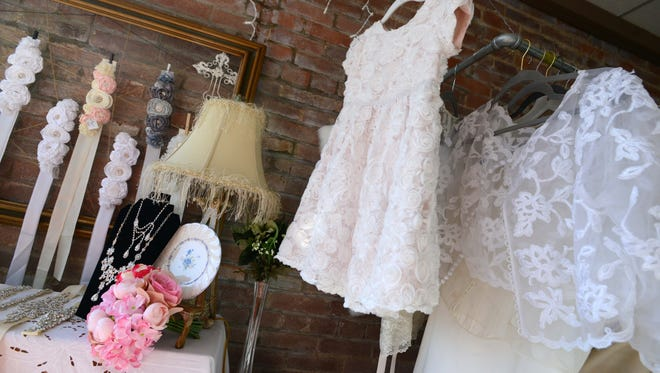 Weddings Etc. in downtown Lancaster opened last year. The shop offers customers pre-owned dresses for weddings including bridal gowns, flower girls dresses, bridesmaid dresses and mother-of-the-bride dresses.