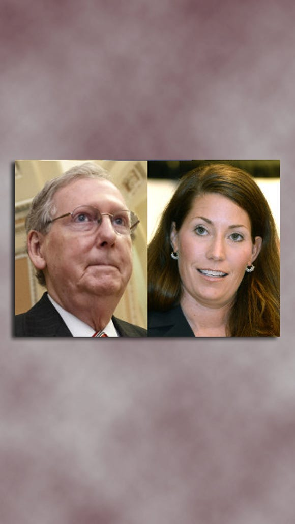 Mitch McConnell and Alison Lundergan Grimes