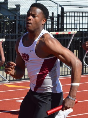 MBA's Ty Chandler competes in the Doug Hall Relays earlier this month.