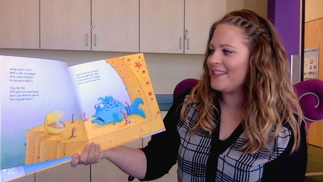 'Miss Rachel' Salazar reads a book for Family Story Time which is live streamed at 7:30 p.m. every Thursday from the Pueblo West Library.