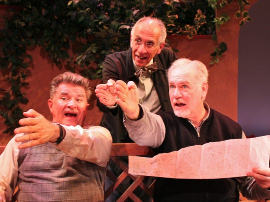 "Bill Gorman, center, starred in ""Heroes"" at Chenango"