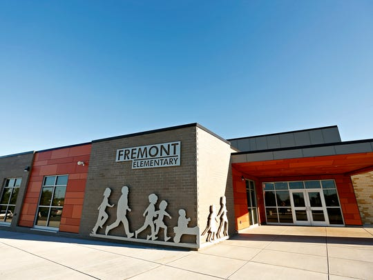 The outside of the newly renovated Fremont Elementary