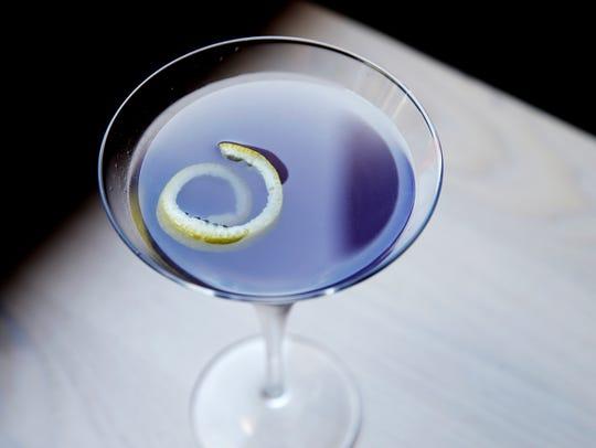 Incandescece, with Grey Goose, creme de violette, lemon