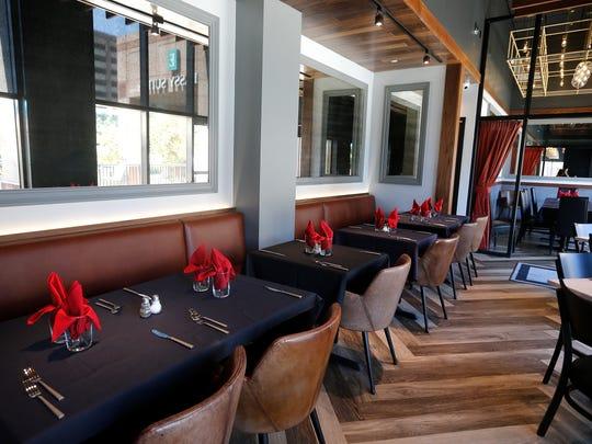 The main dinning area at Fire Restaurant, 50 E. RiverCenter Blvd. Covington