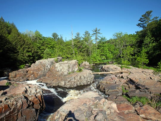 The Dells of the Eau Claire River is a scenic state