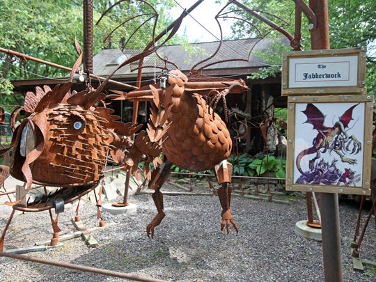 Jurustic Park outside of Marshfield is full of the mythical sculpture creations of Clyde Wynia.