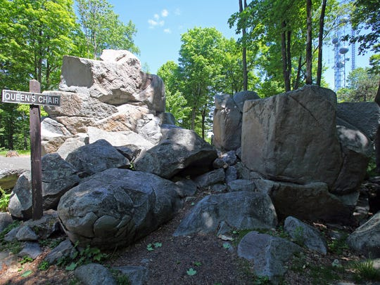The Queen's Chair is a rock formation at the top of