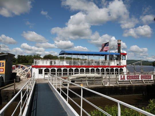 The La Crosse Queen is a replica paddlewheeler that