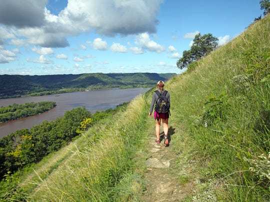 Trails at Perrot State Park lead to the top of Brady's