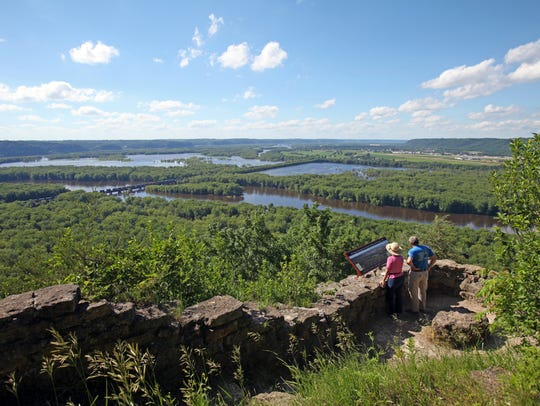 Trails at Wyalusing State Park provide views of the