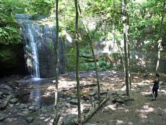 Stephens Falls tumbles 20 feet over a rock face at Governor Dodge State Park outside Dodgeville.