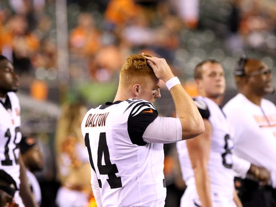 Bengals quarterback Andy Dalton has had two of the toughest games of his career to open 2017.