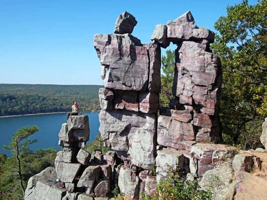 The Devil's Doorway is one of a handful of distinctive rock formations at Devil's Lake State Park near Baraboo.