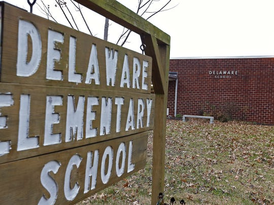 Demolition of the existing Delaware Elementary to make way for construction of a larger, reconfigured school on the same campus is one of the first projects of the recently approved $168 million bond issue.