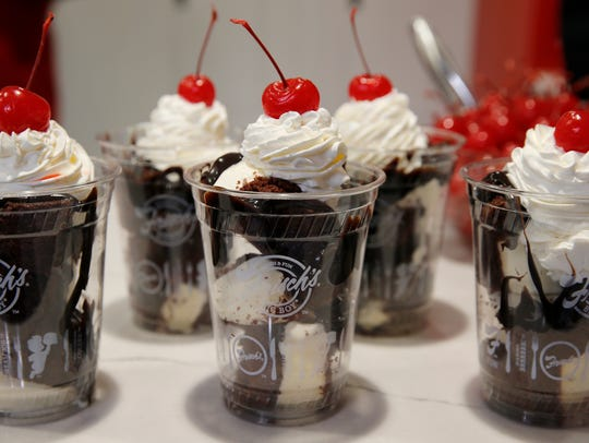 Frisch's hot fudge cakes during the new food preview