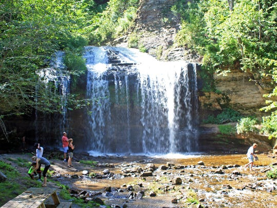 Cascade Falls is a 25-foot waterfall in downtown Osceola.